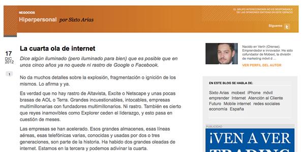La teoría de las olas de Internet