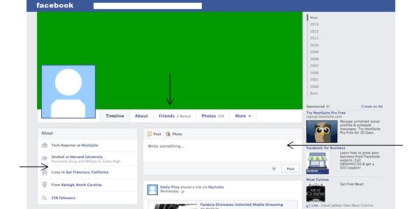 El nuevo rediseño de la página de perfil de usuario en Facebook