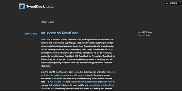 Adiós a las apps de TweetDeck, hola a la versión web