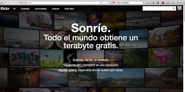 Flickr y el Terabyte GRATIS como estrategia de marketing