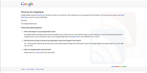 El día que murió Google Reader
