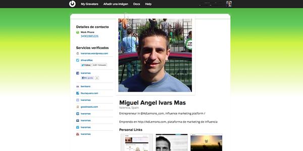 Gravatar el perfil social de millones de usuarios