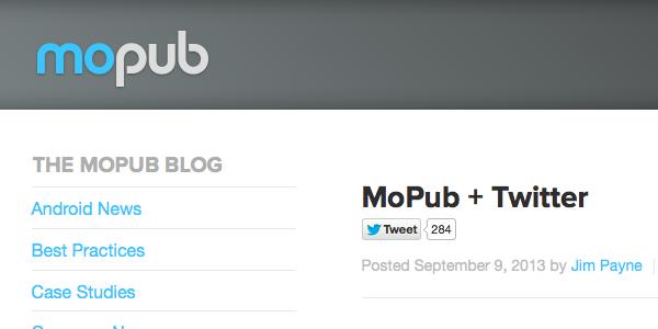 Sobre la compra de MoPub por parte de Twitter