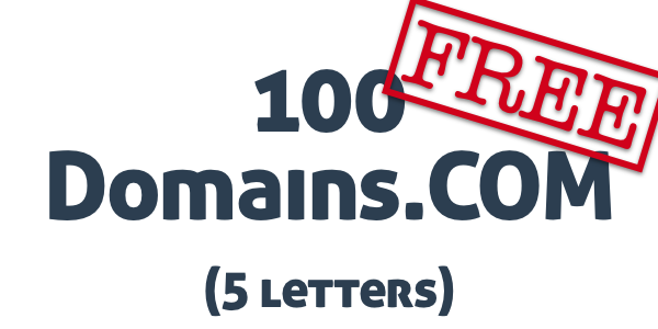 100domains.com 5 letters free